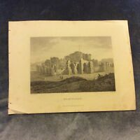 Antique Book Print - Beavmaris, Wales - Early 1800s