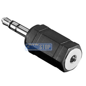 2.5mm Mini Female Socket to 3.5mm Male Heapdhone Size Plug STEREO Audio Adapter