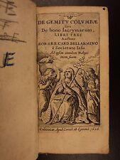 1626 Robert Bellarmine of GALILEO Inquisition Trial Gemitu Colombae Tears Sorrow
