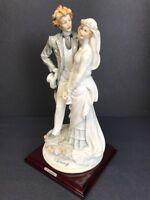 """VTG 1984 Giuseppe Armani Figurine BRIDE & GROOM ON STAIRS Florence 12"""" Tall"""