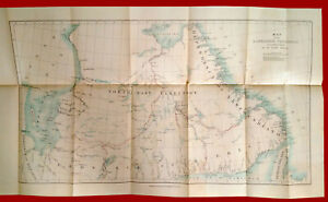 #39353 Vintage map of Labrador Peninsyla. Royal Geogr. Society England 1895.