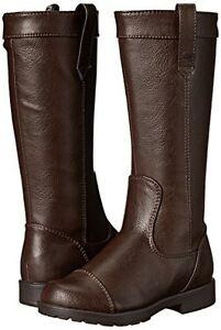 Stride Rite Girls Fashion Riding Boots  Dark Brown Girls Size 10