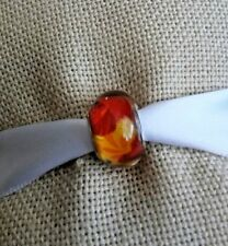 Silver Red Yellow Green Multicolor Murano Glass Bead For European Charm Bracelet