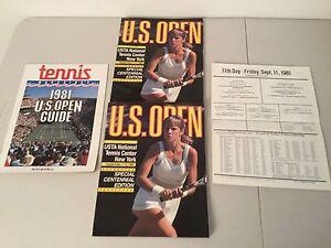 U.S. Open Tennis Programs 1986, 1981 & 1980-autographed!