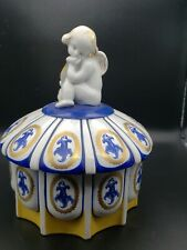 """Cherub Candy Dish Porcelain Bowl 6"""" wide 8.5"""" tall. Signed and numbered"""