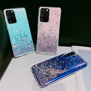 For Huawei P40 PRO P30 P Smart 2020 Bling Glitter Rubber Ultra Slim Case Cover