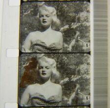 Vtg 16mm B+W Movie SOUND FILM Pin-Ups CAROL FAE PETERSON Bebe Zona Lou BARE HUNT