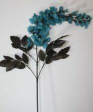 Artificial Flowers - Silk Teal Spring Bell Flower Stem Vase Display Arrangement