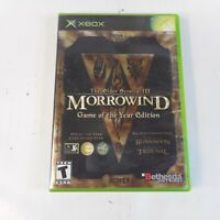 Elder Scrolls III: Morrowind Game of the Year Edition for Xbox w/Manual (no map)