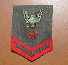 USMC  Shipfitter metal smith Me4chanic Rank Insignia PFC wool  w store tag  #13X
