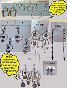 Wholesale Bundle Earring NY&C Hot Topic Anne Klein Xhilaration Liz Claiborne MOM