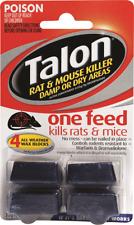 Selleys Talon 4 Wax Blocks Rat Mice Killer Bait 72g All Weather Single Feed