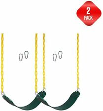 New Bounce Outdoor Swing Seat w/ Heavy Duty Rust-Proof Chain kids & Adult 2 Pack