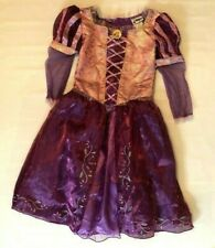 Disney Parks Girls Rapunzel Tangled Dress Gown Costume L 9-10