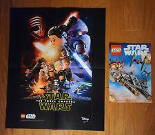 "Lego Star Wars Force Awakens Rare Disney Poster ~ Large 16"" x 20"" ~ Plus insert"