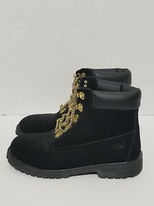 Timberland boots Black Gold Chain Laces Mens 7w