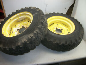 1969 Wheel Horse Workhorse 700 Garden Tractor Part : Pair Rear Wheels and Tires