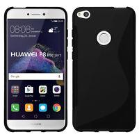 "Housse Etui Coque TPU Silicone S-Line NOIR pour Huawei P8 Lite (2017) 5.2"""