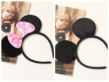27pcs Black Mickey Pink Bow Minnie Mouse Ears Headbands Birthday Party Halloween