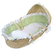 Badger Basket Hooded Moses Basket with Ruffles W