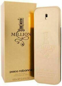 1 MILLION By Paco Rabanne Mens 3.4 oz 100mL EAU DE TOILETTE Spray New Sealed 🏆