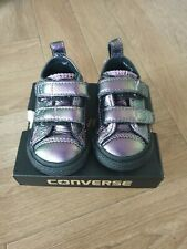 Baby Converse Trainers Size 3 Infant Purple Metallic