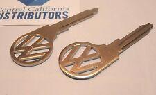 VW Split Bay Bus Type 2 VW key blank logo L profile 1967 -1970  111837219AL