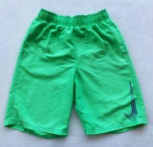 Nike Boy's Core Solid Breaker Swoosh Poison Green Volley Shorts Swimwear 9-11 M