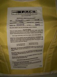 """ Personal Body Armor LVL 2 "" Protective Apparel ( Size ) X Sm Reg #10"