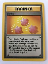 New listing Pokemon 1995-1998 Revive Trainer Card #89/102