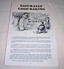 VINTAGE ROBIN HOOD FLOUR RECIPE BOOKLET NATURALLY GOOD BAKING ENGLISH ILLUSTRATE