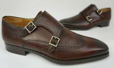 Magnanni Castor Leather Monk Wingtip Men's Shoes Tobacco Brown Size 9 M