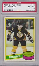 1980 / 81 OPC #140 RAY BOURQUE (RC) (HOF) PSA 6 ex/mt Boston BRUINS  o-pee-chee