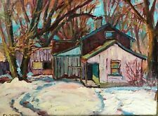 """Old House in Woodbridge"" -Original Oil Painting by Canadian Artist EA Dalton"