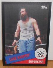 WWE - HERITAGE 2015 - LUKE HARPER - BLACK PARALLEL CARD  #78