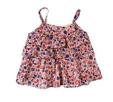 100% Baumwolle Ärmellose Mädchen-T-Shirts & -Tops mit Rundhals und Blumenmuster