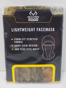 Realtree Facemask Edge Lightweight Hunting Camo Facemask New Turkey Bow Deer