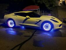 Set of LED Wheel Ring Lights Car Truck LED Mixed Color Chaser Flowing Blue-tooth