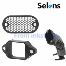 Selens Magnetic Flash Modifier Honeycomb Grid & Rubber Band For Flash Speedlite