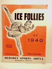 old program: Ice Follies of 1940 - Hershey Sports Arena & 2 ticket stubs