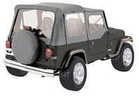 1988-1995 GRAY NEW FOR JEEP WRANGLER SOFT TOP + UPPER SKINS 9870211