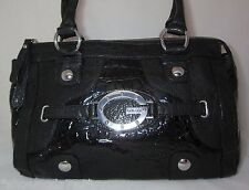 Guess by Marciano Carly Nicole Bag Purse Satchel Black Pink Blue Croco Patent