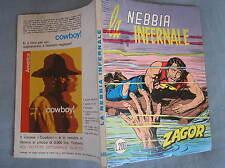 ZAGOR ZENITH 140 LA NEBBIA INFERNALE ORIGINALE OTTIMO NOVEMBRE 1972