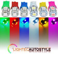2x 5 SMD LED CAR SIDELIGHT / INTERIOR LIGHT BULB T10 W5W 501 6000K 6K PURE XENON