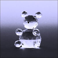 Clear Crystal Panda Collectible Figurine