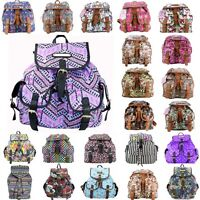 Ladies Girls Butterfly Canvas Backpack Rucksack School bag College Shoulder Bag