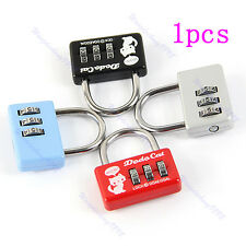 Hot Mini 3 Digit Number Combination Luggage Suitcase Security Cable Lock Padlock