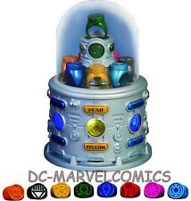 DC Comics JLA TROPHY ROOM: GREEN LANTERN RINGS PROP Replica Set MIB!! Statue