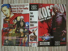 THE KING OF FIGHTERS 01 KOF2001 01 NEO GEO NEOGEO AES PORTADA COVER KIT ORIGINAL