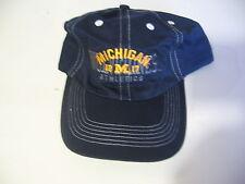 Michigan Wolverines: plastic strap adjustable hat/ball cap, NEW